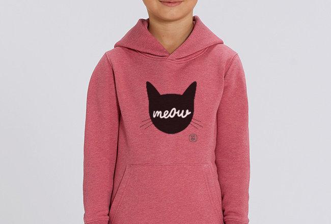 Kids Hoodie - Meow