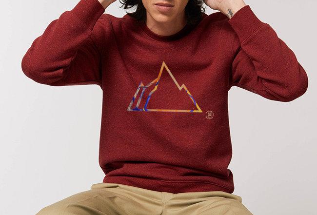 Sweatshirt - Innen flauschig -Colorful Mountain