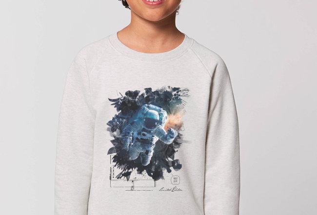 Jungs Sweatshirt - Galaxy