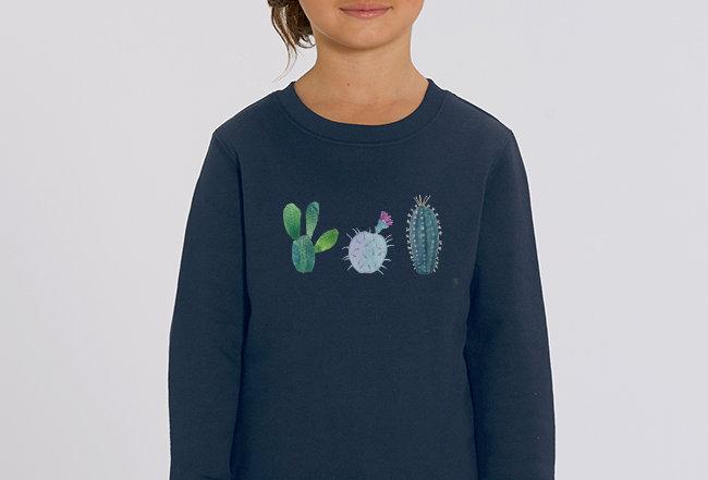 Mädchen Sweatshirt - Kakteen