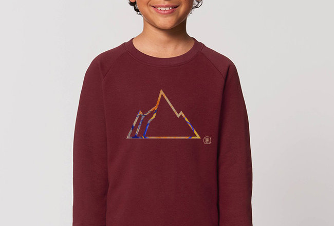 Jungs Sweatshirt- Colorful Mountain