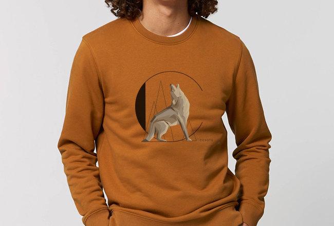 Sweatshirt - Innen flauschig - Coyote