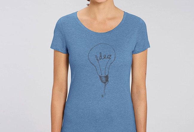 Basic T-Shirt - Reine Biobaumwolle - Idea