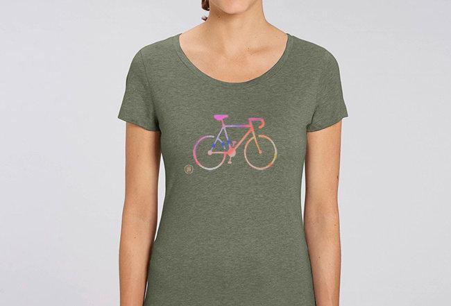 Basic T-Shirt - Reine Biobaumwolle - Colorful Bike