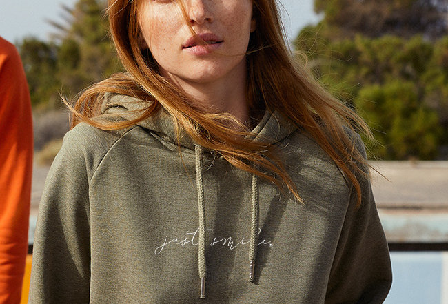 Damen Basic Hoodie - just smile