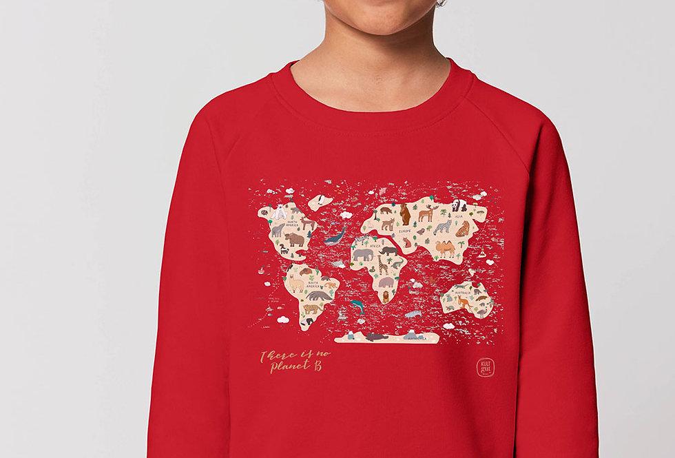 Unisex Sweatshirt- Animal Map