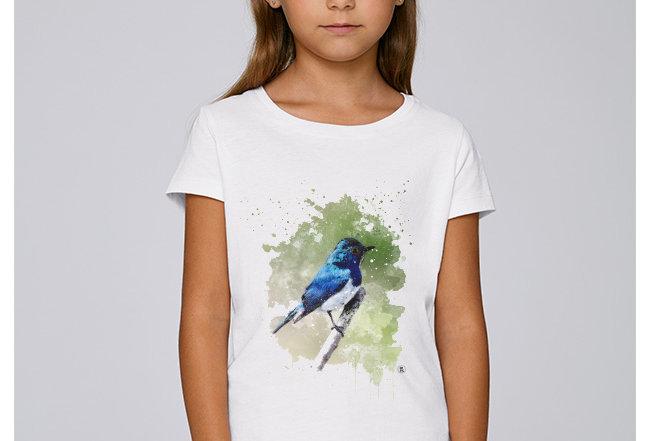 Mädchen T-Shirt - Blaunachtigall