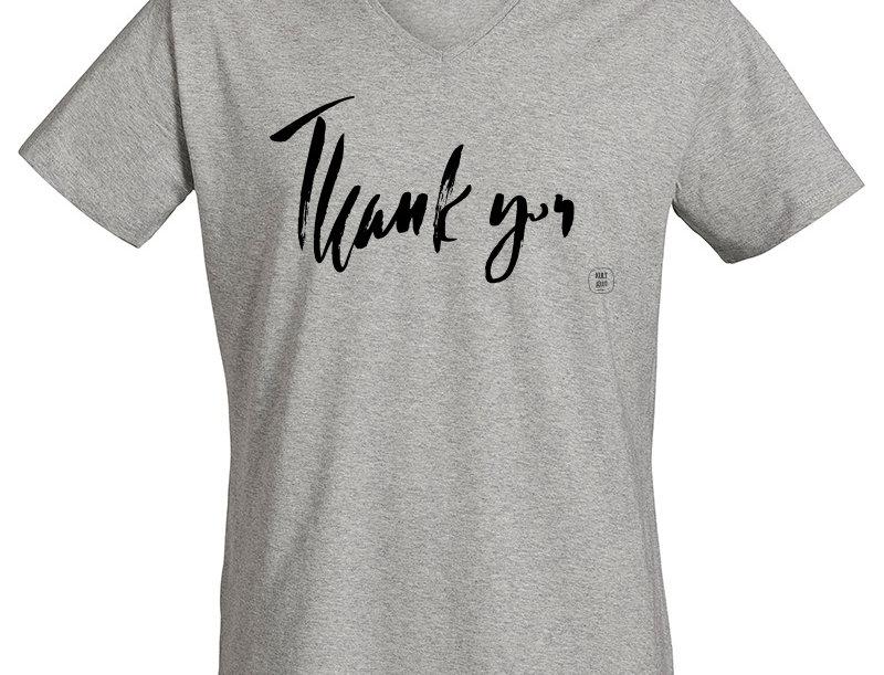 V-Neck Shirt - Thank you