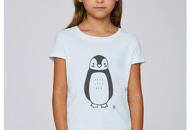 Mädchen T-Shirt - Penguin