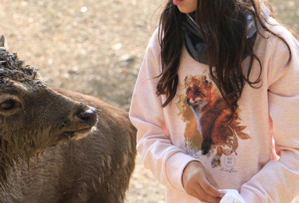 Mädchen Sweatshirt - Happy Fox