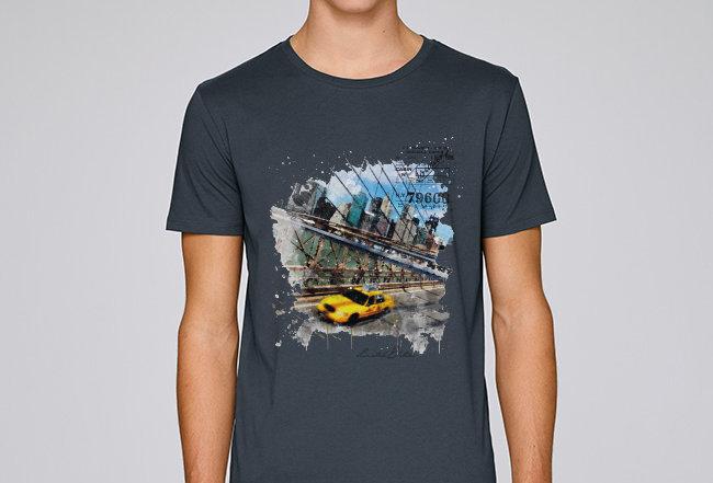Basic T-Shirt - Manhatten