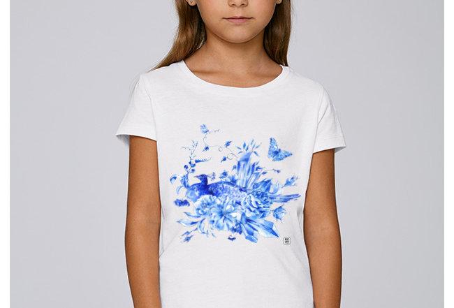 Mädchen T-Shirt - blue delfts