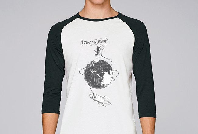Baseball Shirt- Explore the Universe
