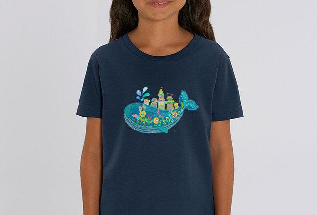 Mädchen T-Shirt- Zauberwal