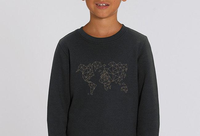 Jungs Sweatshirt - Worldmap