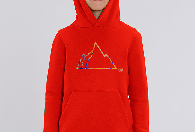 Jungen Hoodie - Colorful Mountain