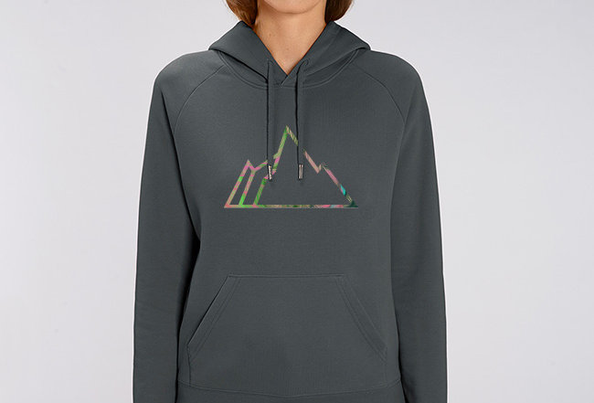Damen Basic Hoodie - NEON MOUNTAIN