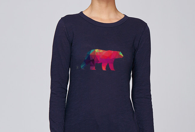 Langarmshirt- Polarbär