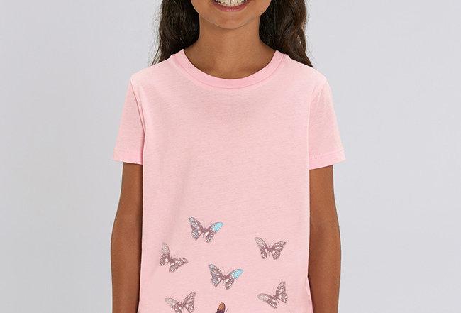 Kopie von Mädchen T-Shirt- Schmetterlinge im Bauch