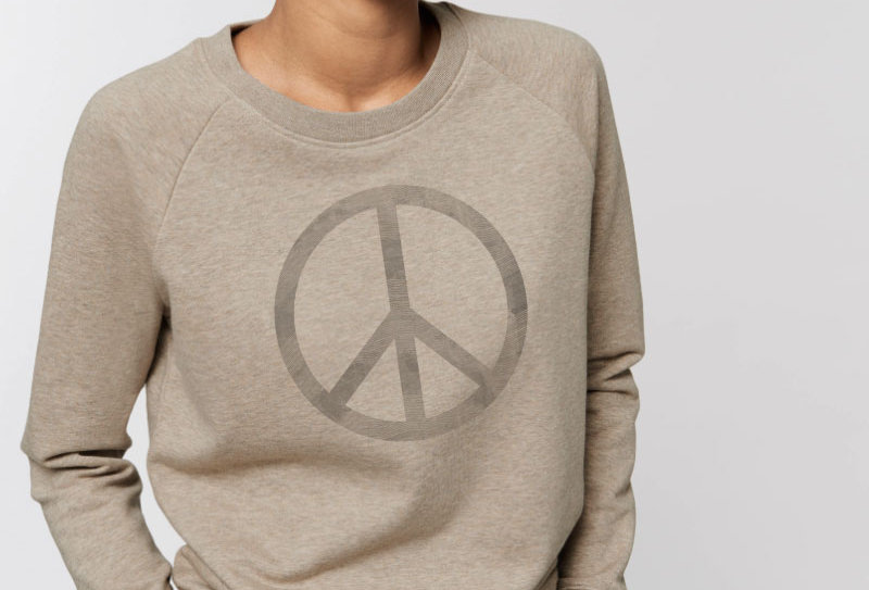 Damen Sweatshirt- Peace