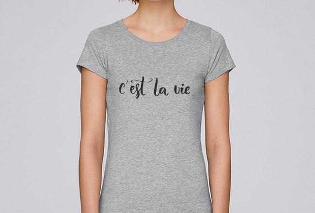 Händler Damen Basic T-Shirt - c'est la vie