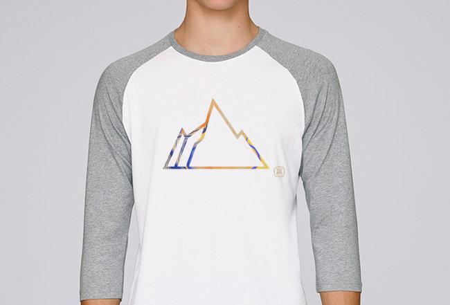 Baseball Shirt- Colorful Mountain