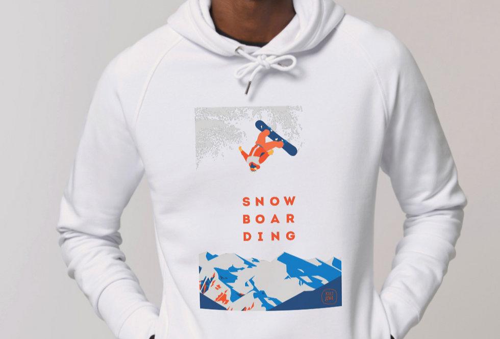 Hoodie ohne Kängurutasche - Snowboarding