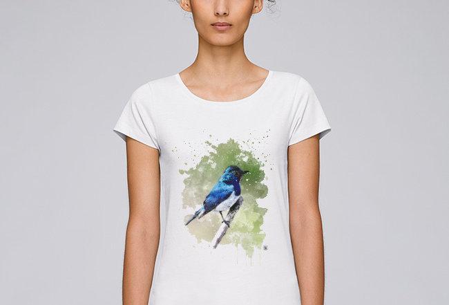 Basic T-Shirt - Blaunachtigall