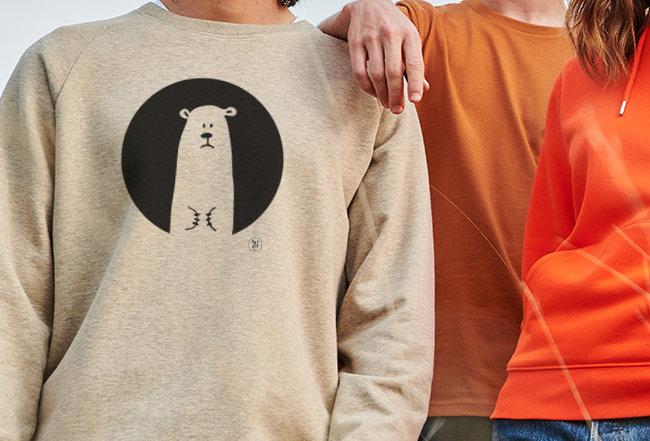 Sweatshirt - Innen flauschig- Icebear
