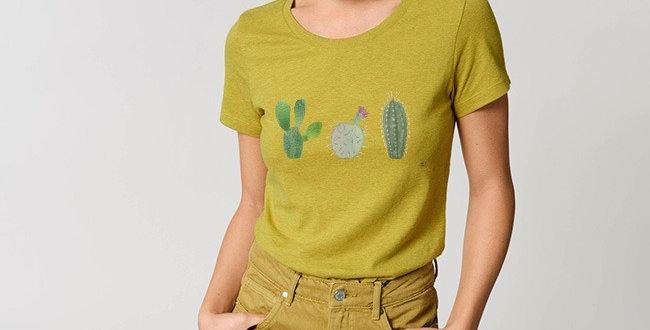 Basic T-Shirt - Reine Biobaumwolle - Kakteen