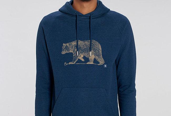 Basic Hoodie- Golden Bear