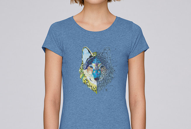 Basic T-Shirt- Wolf