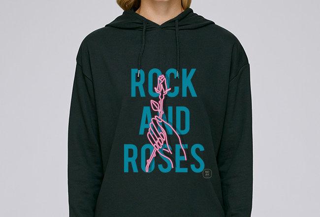 Händler Modernstyle Hoodie- Rock and Roses