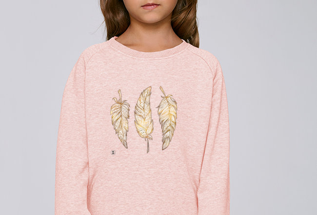 Mädchen Sweatshirt - Glücksfedern