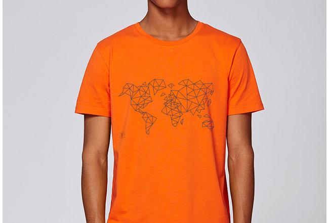 Händler Basic T-Shirt - blue Worldmap