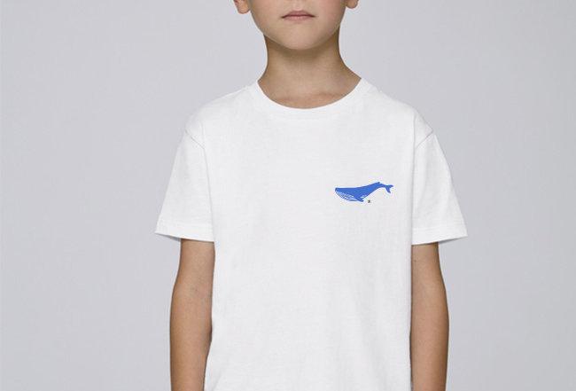 Jungs T-Shirt - Blauwal