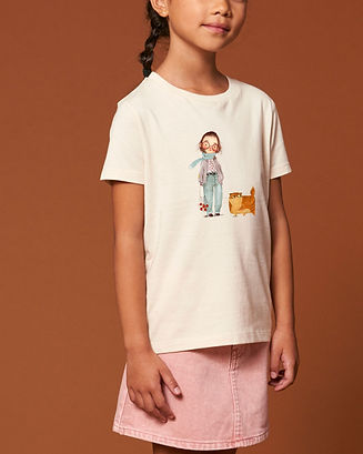 Girl_Shirt_New_Beige_Girlwithcat_Kultgut