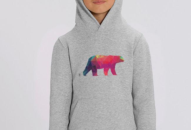Mädchen Hoodie - Polarbaer