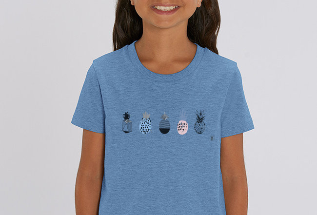 Mädchen T-Shirt- Ananas