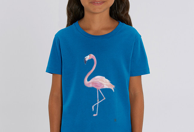 Mädchen T-Shirt- Flamingo