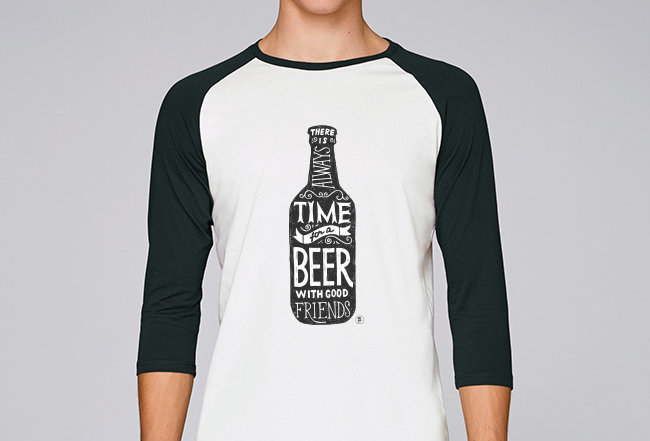 Baseball Shirt- Time for a Beer