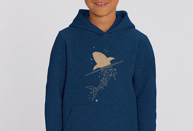 Jungen Hoodie - golden Shark