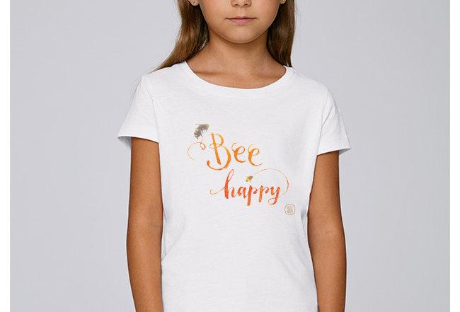 Mädchen T-Shirt- Bee Happy