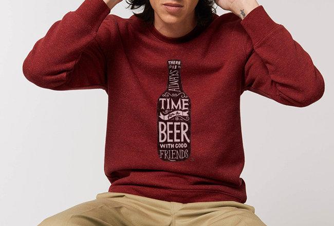 Sweatshirt - Innen flauschig - Time for a Beer