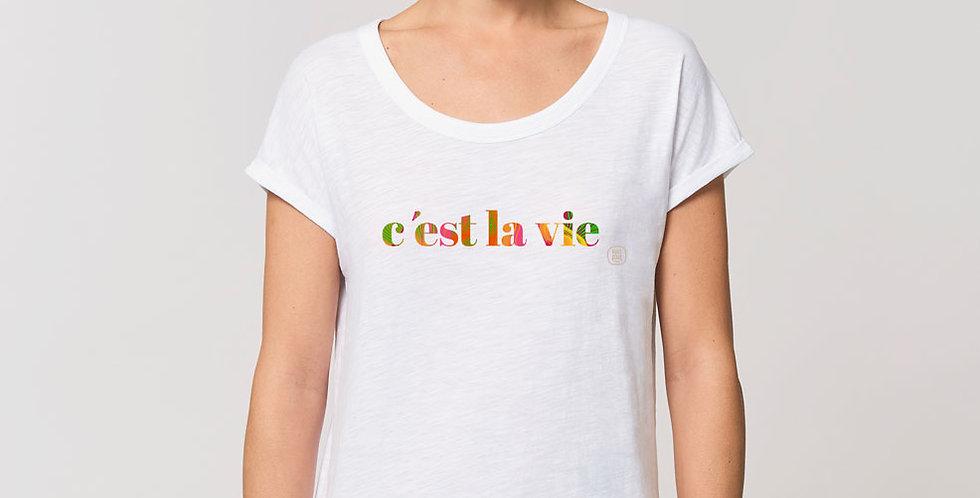 Rolled Sleeve Shirt /c'est la vie