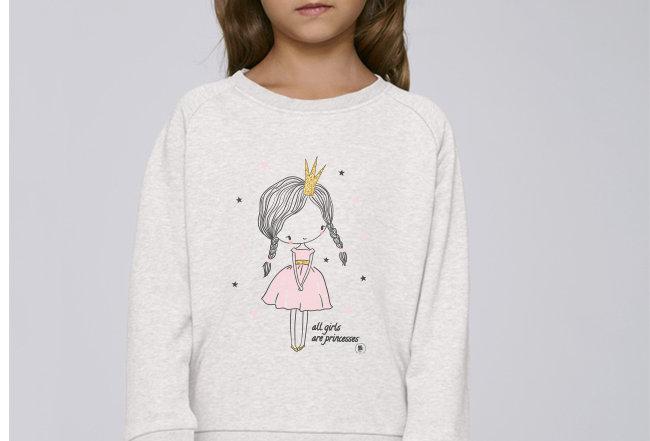 Mädchen Sweatshirt - all girls are princesses
