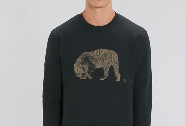 Basic Sweatshirt - Golden Tiger