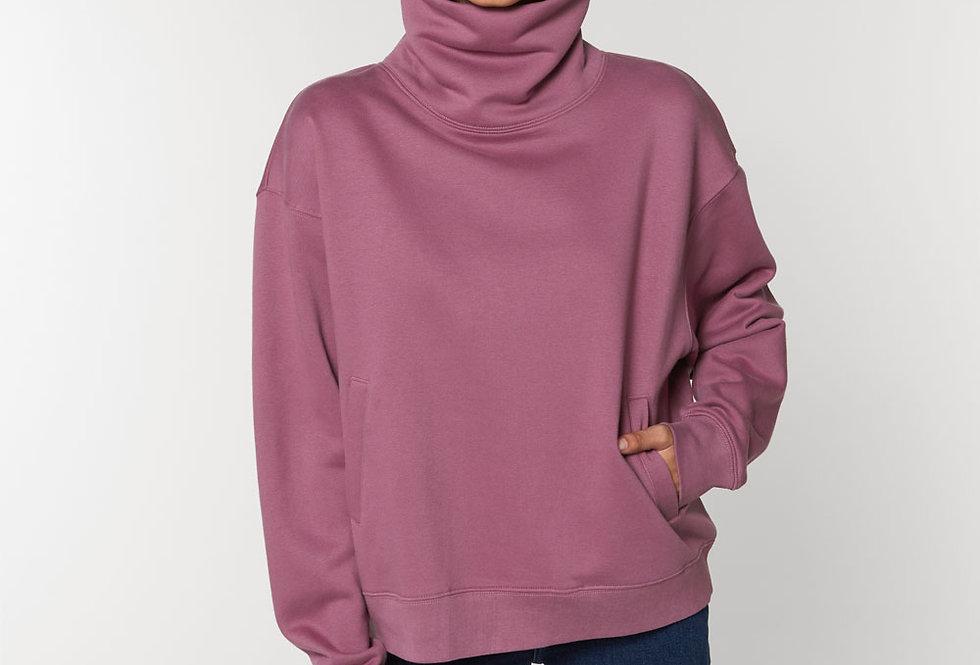 Sweatshirt Rollkragen innen flauschig