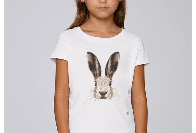 Mädchen T-Shirt- Hase