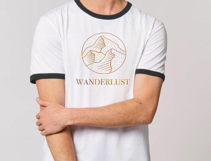 Herren Bicolor T-Shirt - Wanderlust